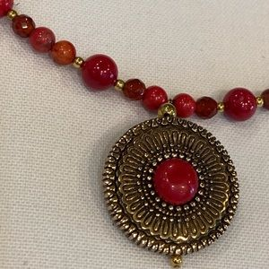 Studio Barse Jewelry - Coral and bronze necklace!!!
